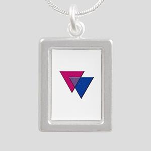 Triangles Symbol - Bisexual Pride Flag Necklaces