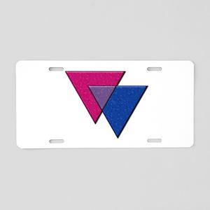 Triangles Symbol - Bisexual Pride Flag Aluminum Li