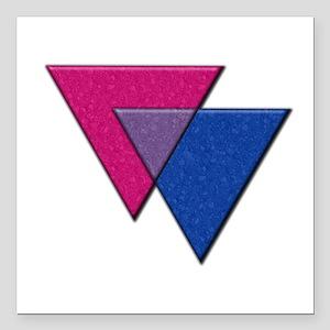 Triangles Symbol - Bisexual Pride Flag Square Car