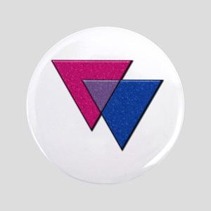 "Triangles Symbol - Bisexual Pride Flag 3.5"" Button"