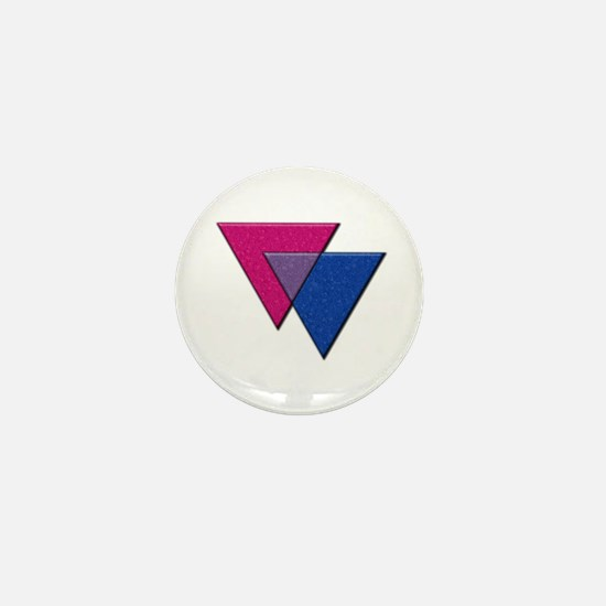 Triangles Symbol - Bisexual Pride Flag Mini Button
