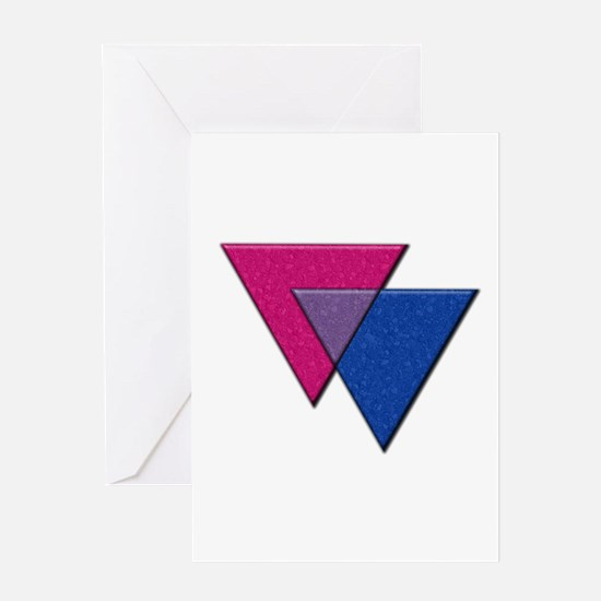 Triangles Symbol - Bisexual Pride Flag Greeting Ca