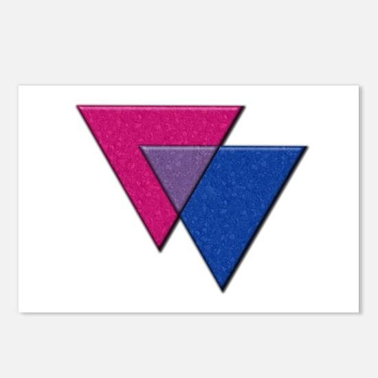 Triangles Symbol - Bisexual Pride Flag Postcards (