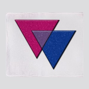 Triangles Symbol - Bisexual Pride Flag Throw Blank