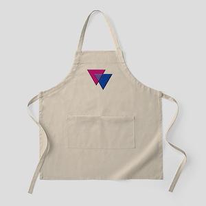 Triangles Symbol - Bisexual Pride Flag Apron