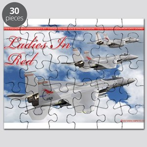 Ladies in Red F-15 Eagles of the 123rd Puzzle
