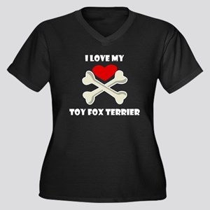 I Love My Toy Fox Terrier Plus Size T-Shirt
