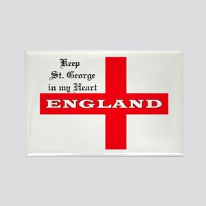 St. George's Flag Rectangle Magnet