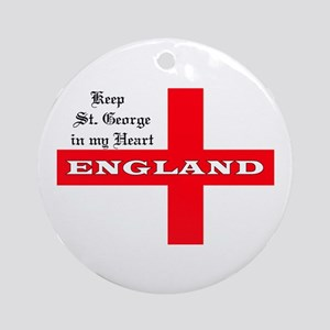 St. George's Flag Ornament (Round)