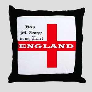 St. George's Flag Throw Pillow