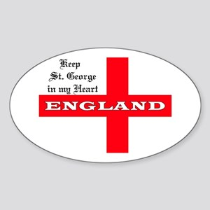 St. George's Flag Oval Sticker