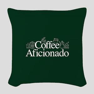 Coffee Afficionado Woven Throw Pillow