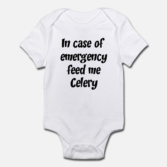 Feed me Celery Infant Bodysuit