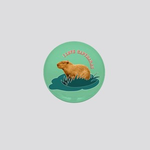I Love Capybaras Mini Button