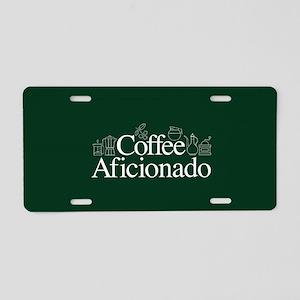 Coffee Afficionado Aluminum License Plate