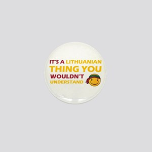 Lithuanian smiley designs Mini Button