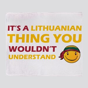 Lithuanian smiley designs Throw Blanket