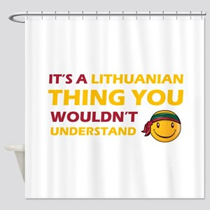 Lithuanian smiley designs Shower Curtain