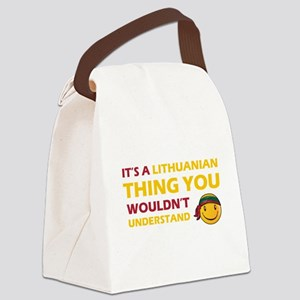 Lithuanian smiley designs Canvas Lunch Bag
