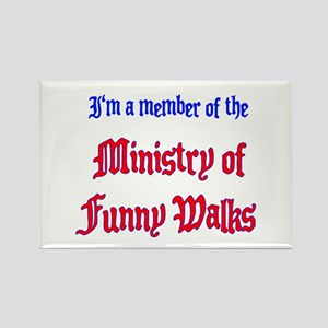 Ministry of Funny Walks Rectangle Magnet