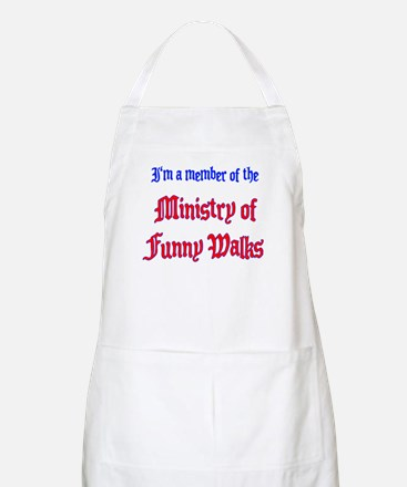 Ministry of Funny Walks BBQ Apron