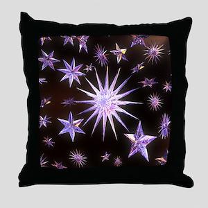 Sparkling Stars Throw Pillow