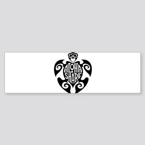 Aloha Share Honu (Black) Bumper Sticker