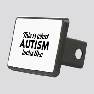 Autism Looks Like Rectangular Hitch Cover