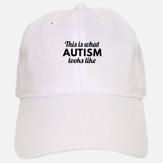 Autism Looks Like Baseball Baseball Cap