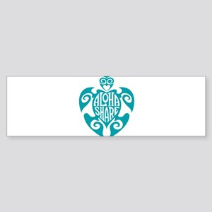 Aloha Share Honu (Blue) Bumper Sticker