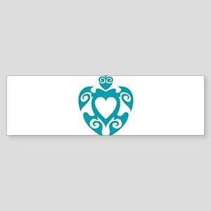 Aloha Share Heart (Blue) Bumper Sticker