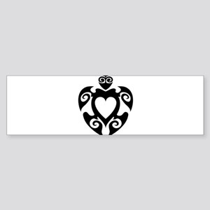 Aloha Share Heart (Black) Bumper Sticker