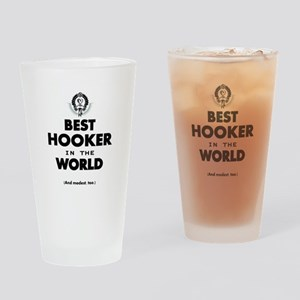 The Best in the World Best Hooker Drinking Glass