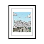 Mt Rushmore selfies Framed Panel Print