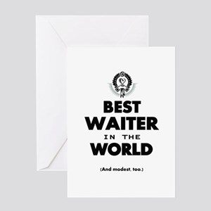 The Best in the World Best Waiter Greeting Cards