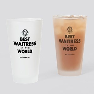 The Best in the World Best Waitress Drinking Glass