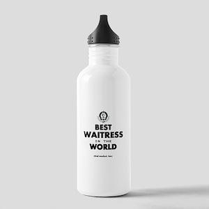 The Best in the World Best Waitress Water Bottle