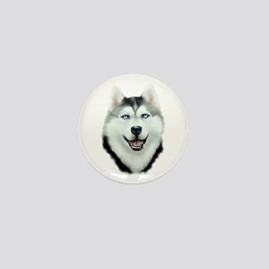 Siberian Husky Mini Button