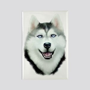 Siberian Husky Rectangle Magnet