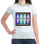 Drag Diva SisterFace Circa 1990 Jr. Ringer T-Shirt
