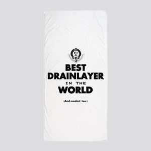 The Best in the World Best Drainlayer Beach Towel