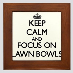 Keep calm and focus on Lawn Bowls Framed Tile