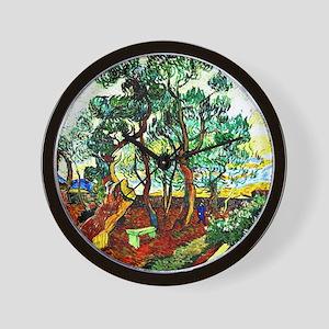 Van Gogh - The Garden of St. Paul's Hos Wall Clock