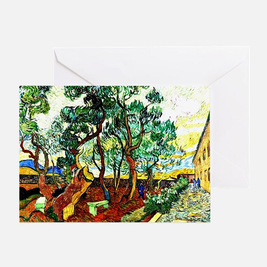 Van Gogh - The Garden of St. Paul's  Greeting Card