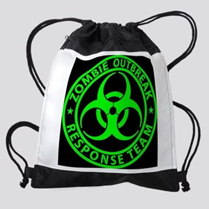 Zombie Outbreak Response Team Sign Drawstring Bag