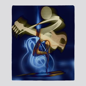 The Guitar Player abstract design Throw Blanket
