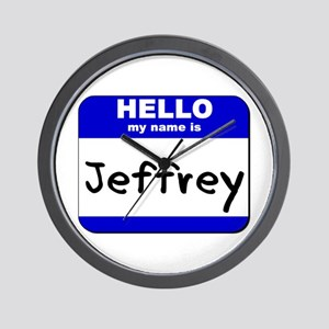 hello my name is jeffrey  Wall Clock