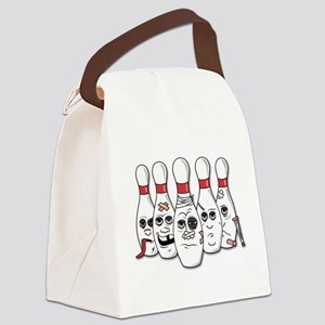 Battered Bowling Pins Canvas Lunch Bag