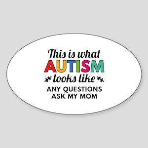Autism Looks Like Sticker (Oval)