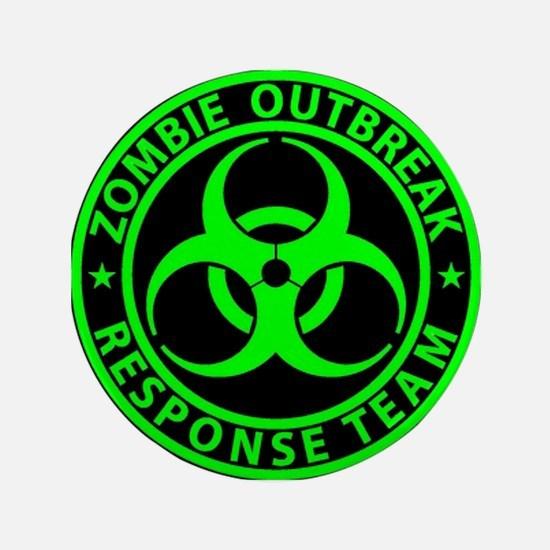 "Zombie Outbreak Response 3.5"" Button (100 Pac"